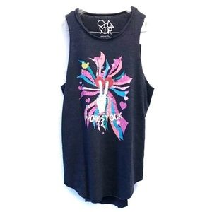 """NEW CHASER Graphic Muscle Tank """"Woodstock"""" Size M"""